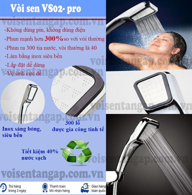 Vòi sen tăng áp VS02- pro