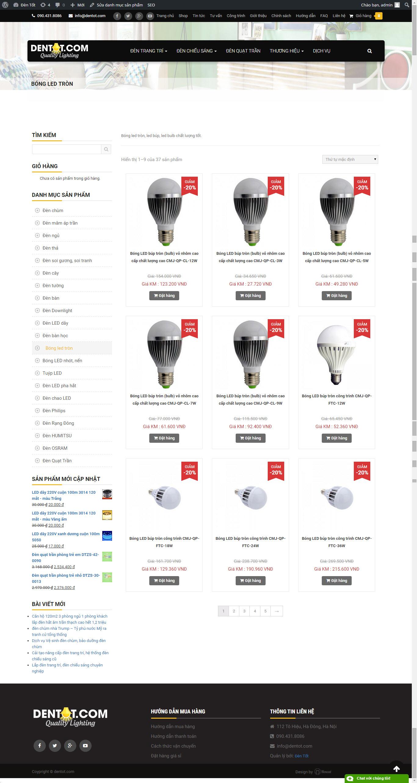Đèn led tròn tiết kiệm điện tại DENTOT.COM